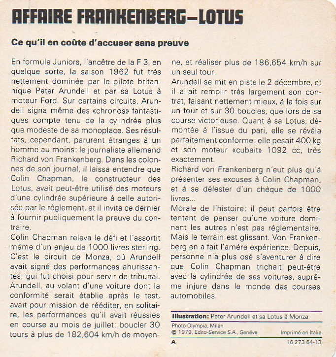 Affaire frankenberg lotus 1