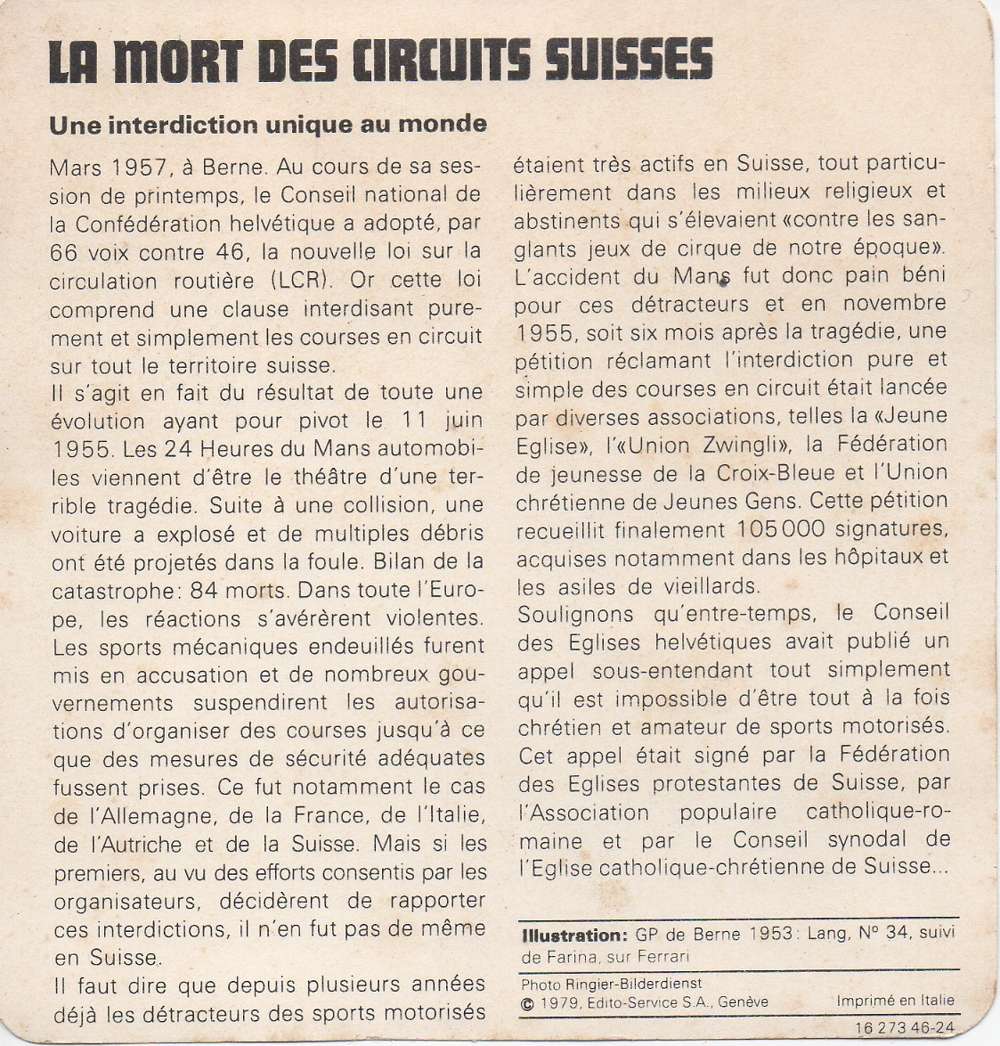Circuits suisses 1