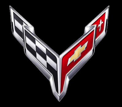 Logo chevrolet corvette c8 copie