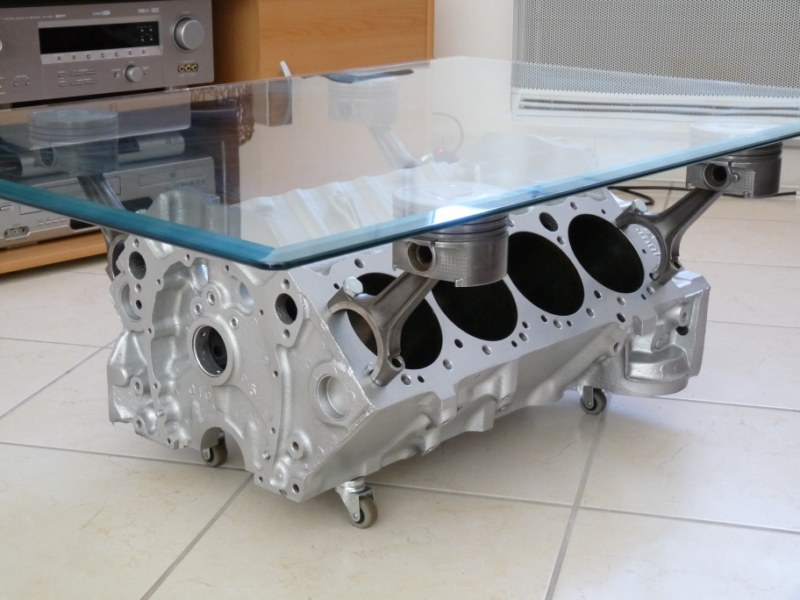 Au for Table basse moteur voiture